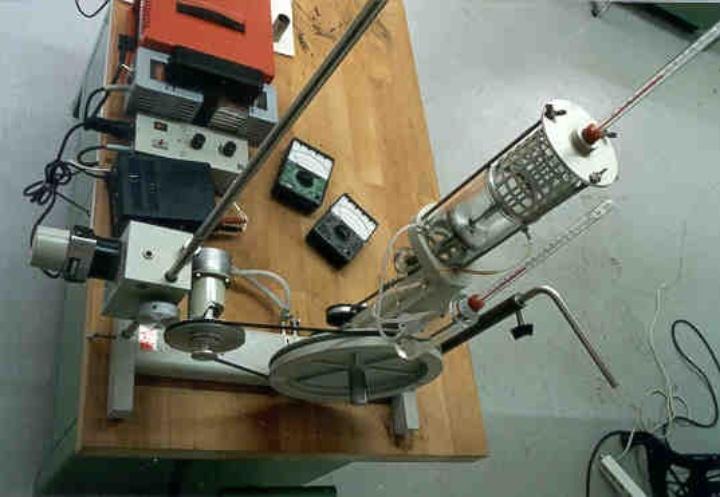 Experimental setup Stirlingmotor